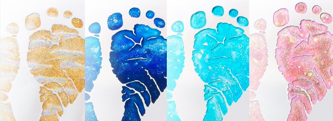 足形・手形の塗装/カラーバリエーションについて